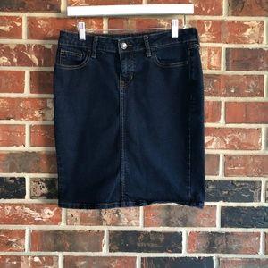Old Navy Straight Denim Skirt
